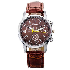 Relojes - Reloj De Lujo De Ginebra Hombres Faux Leather Cua