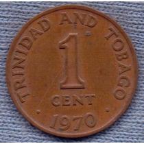 Trinidad Y Tobago 1 Cent 1970 * Escudo *