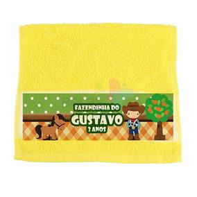 Kit C/10 Toalhinhas Lavabinho Personalizadas - Amarela