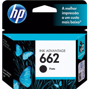 Cartucho Original Hp 662 Preto 2516 3516 1516 2546 4646