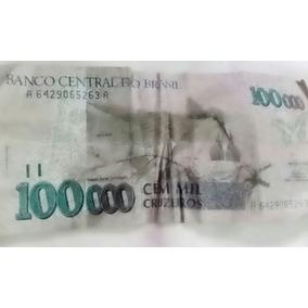 Nota Antiga Cem Mil Cruzeiros