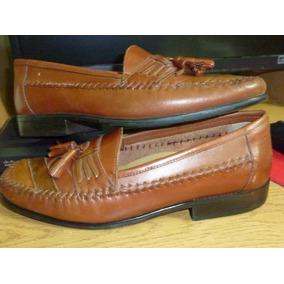 Zapatos Nauticos Mocasines De Cuero 100% - Hombre,