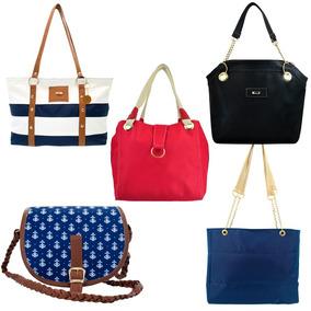 Paquete De 5 Bolsas De Dama #1 Bolsos De Mano Moda Y Mayoreo