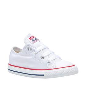 Tenis Choclo Para Bebe Converse Blanco Textil Ur637 A