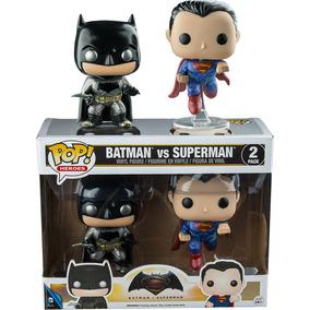 Funko Pop Exclusivo Batman Vs Superman Metalico Pack 2