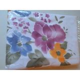 Cortina De Baño Tela Antihongos Flores Floreada