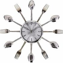 Relogio Parede Decorativo Talheres Cozinha Restaurante