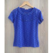 Blusa De Renda Fato Consumado Det Pedrarias - Azul Bic Royal