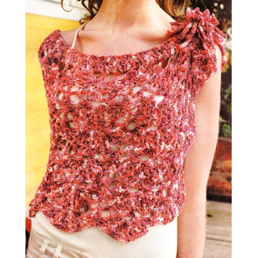 Capa Tejida En Cinta De Seda Al Crochet Talle Único Tv-001