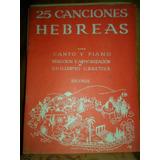 Partitura Piano Y Canto 25 Canciones Hebreas