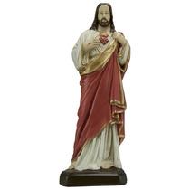 Imagem Sagrado Coração De Jesus - Estatueta Religiosa