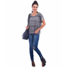 Camiseta Blusa Feminina Decote V Regata Com Renda