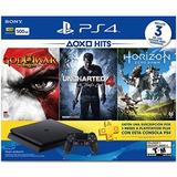 Playstation 4 Con 3meses De Ps Plus Y 3 Juegos