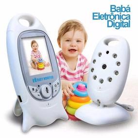 Babá Eletrônica Câmera Sem Fio Visão Noturna Lcd Digital 2p