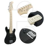 Niños 1/2 Negro Guitarra Eléctrica De 30 Pulgadas Y Paquete