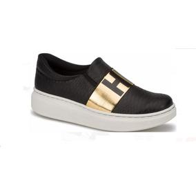 Zapatos Tenis Negros, Sneaker Slip On, Andrea, Envío Gratis