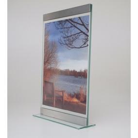 Porta-retrato Vertical 20x30cm Vidro/alumínio Dupla Face