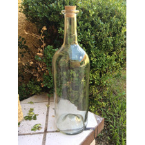 Botella Gigante Vidrio Solplado Corcho 41 Centimetros Alto