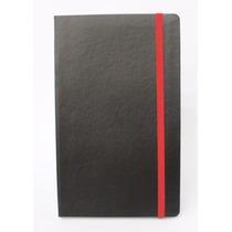 Caderno Tipo Moleskine, 128x210mm, Sem Pauta, 192 Pag, Preto