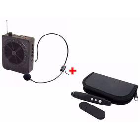 Kit Apresentação Caneta Passa Slide + Microfone Amplificador