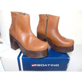 Botas De Mujer Boating Media Caña