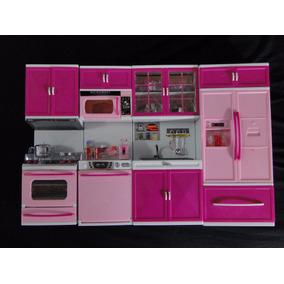 Mega Cozinha Maravilhosa Da Barbie Geladeira Microndas Fogão