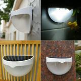 Luminária Luz Solar De 6 Leds Para Escadas Telhados Quintal