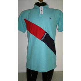 Camisa Playera Tipo Polo Tommy Hilfiger Color Azul Aqua