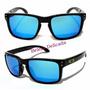 Óculos De Sol Masculino Lente Azul Espelhado Moda Famoso