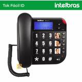 Telefone Fixo De Mesa Com Bina Tok Fácil Id Visor Intelbras