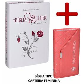 Bíblia De Estudo Da Mulher + Capa + Bíblia Tipo Carteira