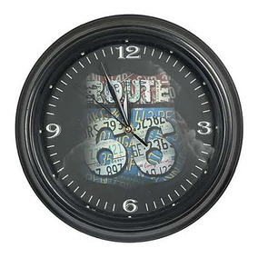 Reloj Vintage Retro Led Luminoso Route 66 Carros 0249