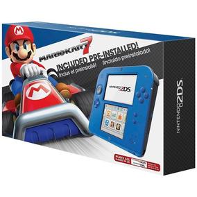 Console Nintendo 2ds Azul + Mario Kart 7 (pré-instalado)