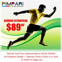 Remeras Maratones Running Estampada Deportiva Calidad!