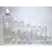 50 Pzs Envase Plastico Pet 30,50,60,125,250,500ml,1litro