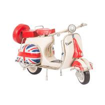 Miniatura Lambreta Modelo Vespa C/ Bandeira Da Inglaterra
