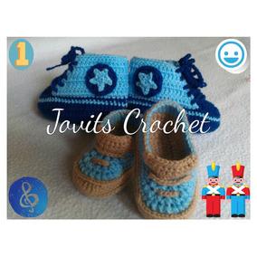 Escarpines Zapatos Converse Tejidos A Crochet Niño Niña Bebe