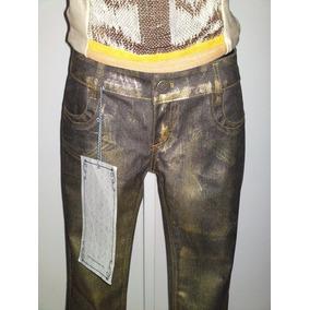 Calça Dourada Jeans (lança Perfume)