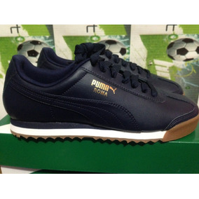 Tenis Casuales Puma Roma 100% Originales Azul Marino Hombre