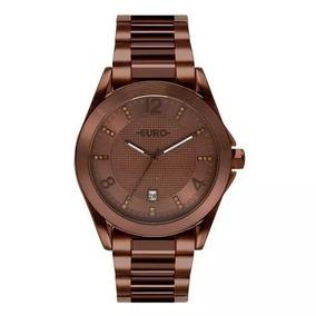 fa14d3b935 Relogio Euro Aprilia Eu2035mb2x Marrom - Relógios no Mercado Livre ...