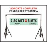 Pie Soporte Fondo Fotografia Sistema Completo (2.80 X 3 Mts)