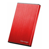 Carcasa Para Disco Duro Vorago Hdd-201 Rojo Usb 3.0 2.5