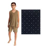 Pijama Infantojuvenil Fresco Para Crianças Camiseta E Shorte