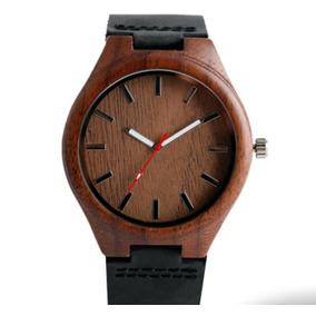 Reloj De Madera Nogal Para Caballero Correa De Cuero