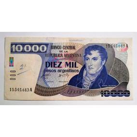 Antiguo Billete 10000 Diez Mil Pesos Argentinos Serie A