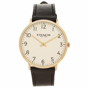 Reloj Coach Slim Easton Cuero Tono Negro Hombre 14602125