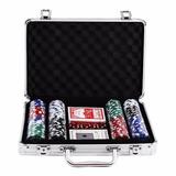 Jogo De Poker 200 Peças Maleta Aluminio Profissional Poquer