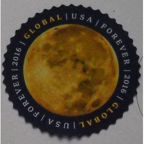 U.s.a 01 Selo Circular Azul Planeta Terra