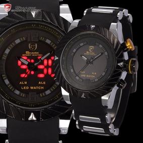 Relógio Masculino Shark Original Led Luxo Frete Grátis
