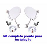 Kit 2 Antenas Comple + Instalação Completa Para São Paulo